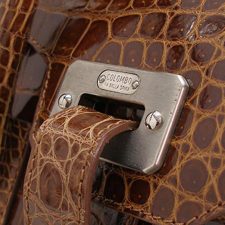COLOMBO(콜롬보) CB11001 오데온 크로커다일 토트백 + 숄더 스트랩 [압구정매장] 이미지3 - 고이비토 중고명품