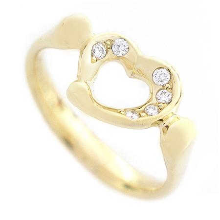 Tiffany(티파니) 18K 옐로우 골드 오픈 하트 6포인트 다이아 반지 - 10호 [명동매장]