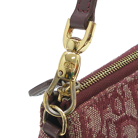 Dior(크리스챤디올) 로고 패턴 패브릭 새들 파우치 겸 숄더백