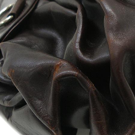 Dior(크리스챤디올) 은장 로고 장식 브라운 래더 멀티포켓 숄더백