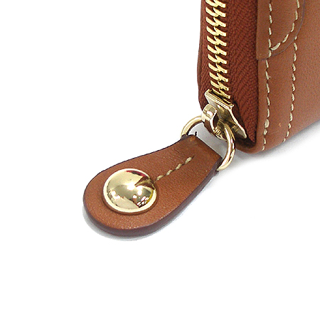 Bean Pole(빈폴) 브라운 레더 짚업 장지갑
