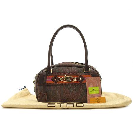 Etro(에트로) 금장 로고 페가수스 장식 페이즐리 PVC 토트 겸 숄더백 이미지2 - 고이비토 중고명품