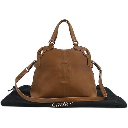 Cartier(까르띠에) 카멜 컬러 마르첼로 쇼핑백 2WAY 이미지2 - 고이비토 중고명품