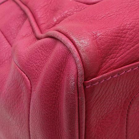 Marc By Marc Jacobs(마크 바이 마크 제이콥스) 멀티 포켓 핑크 컬러 래더 토트백