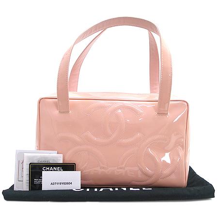Chanel(샤넬) A27119Y02604 핑크 페이던트 트리플 코코 로고 토트백 이미지2 - 고이비토 중고명품