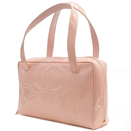 Chanel(샤넬) A27119Y02604 핑크 페이던트 트리플 코코 로고 토트백 이미지3 - 고이비토 중고명품