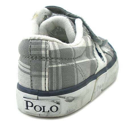 Polo Ralphlauren(폴로) 체크 패브릭 유아용 스니커즈