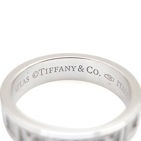 Tiffany(티파니) 18K 화이트 골드 아틀라스 3포인트 다이아 반지