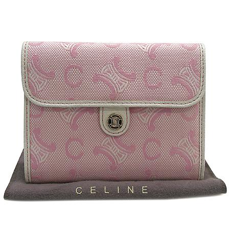 Celine(셀린느) 블라종 로고 자가드 중지갑 이미지2 - 고이비토 중고명품
