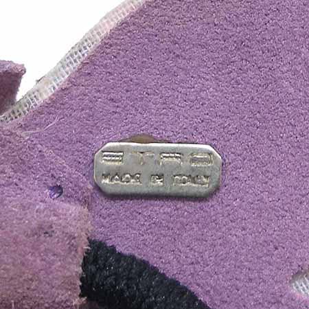 Etro(에트로) 버터플라이 큐빅 장식 퍼플 스웨이드 머리끈