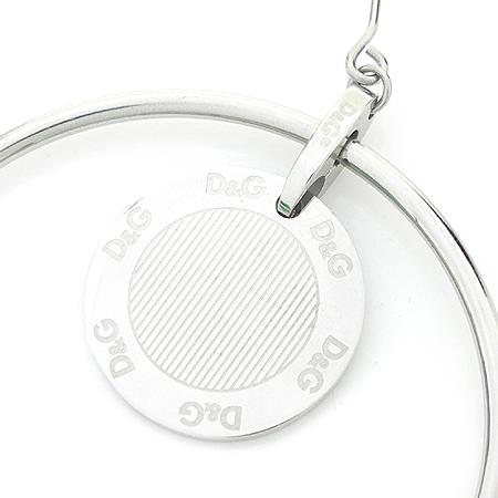 D&G(돌체&가바나) 로고 라운드 스틸 링 귀걸이
