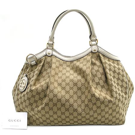 Gucci(구찌) 211943 GG 로고 자가드 수키 숄더백