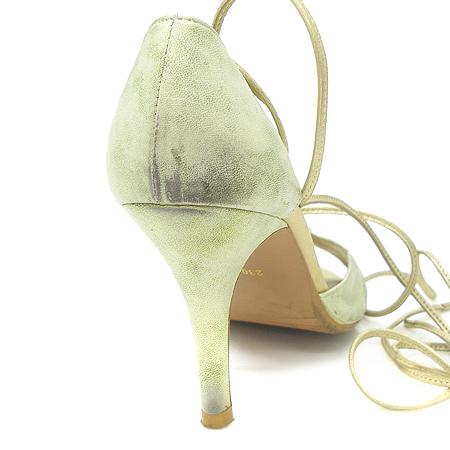 O'2nd(오즈세컨) 메탈릭 그린 스트랩 오픈토 하이힐 여성용 구두 [강남본점] 이미지4 - 고이비토 중고명품
