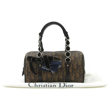 Dior(크리스챤디올) 리본 장식 로고 보스톤 토트백