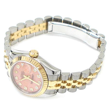 Rolex(로렉스) 179173 18K 콤비 10포인트 다이아 DATEJUST(데이저스트) 여성용 시계