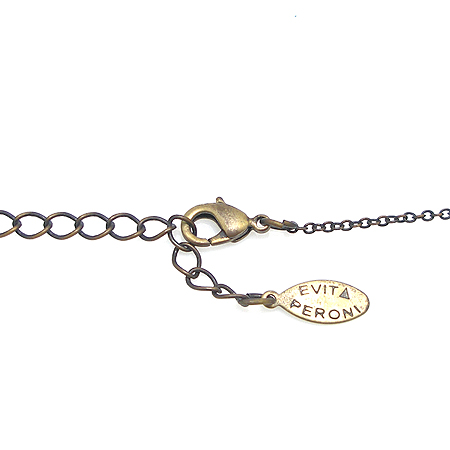 Evita(에비타) 커스텀 진주 크리스탈 장식 하트 엔틱 목걸이 귀걸이 세트