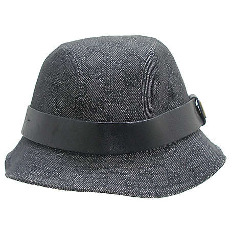 Gucci(구찌) GG로고 래더 스티치 장식 데님 벙거지 모자 이미지2 - 고이비토 중고명품