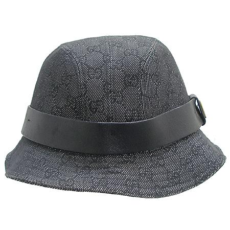 Gucci(구찌) GG로고 래더 스티치 장식 데님 벙거지 모자