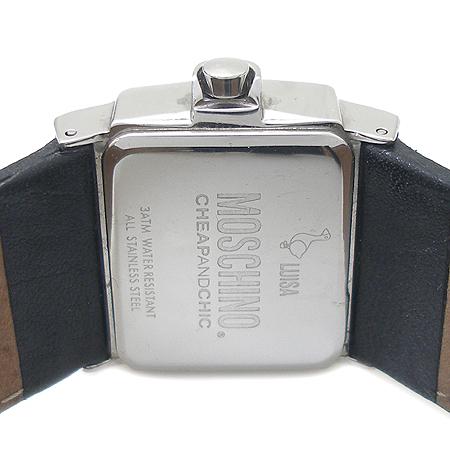 Moschino(모스키노) MW0042 베젤 장식 사각 가죽 밴드 여성용 시계