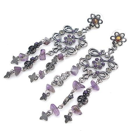 Evita(에비타) 퍼포 플라워 원석 장식 테슬 귀걸이 [강남본점] 이미지2 - 고이비토 중고명품
