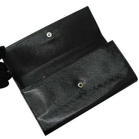 Ferragamo(페라가모) 22 7121 은장 로고 장식 블랙 페이던트 살바토레 여성용 장지갑