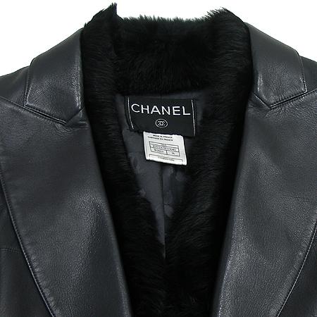 Chanel(샤넬) 양가죽 자켓(배색:토끼털/실크)