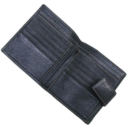 Gucci(구찌) 154186 삼색 체인 장식 블랙 래더 반지갑 이미지2 - 고이비토 중고명품