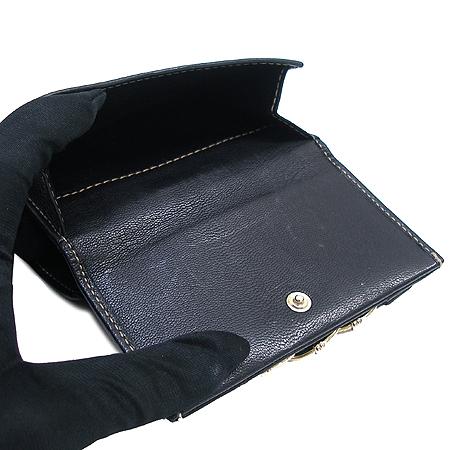 Gucci(구찌) 154186 삼색 체인 장식 블랙 래더 반지갑 이미지3 - 고이비토 중고명품