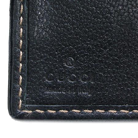 Gucci(구찌) 154186 삼색 체인 장식 블랙 래더 반지갑 이미지4 - 고이비토 중고명품