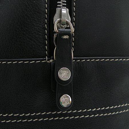 Celine(셀린느) BI1AB064S 은장 로고 장식 블랙 래더 스티치 볼링 토트백