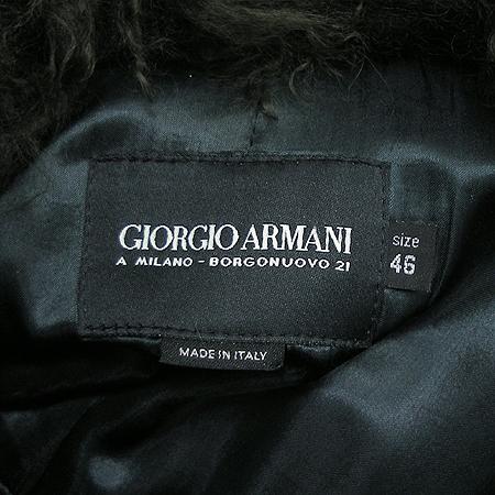 Armani(아르마니) 블랙라벨 가죽 코트 (벨트 set)