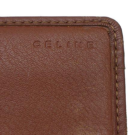 Celine(셀린느) 로고 장식 블라종 패브릭 장지갑