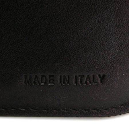 Prada(프라다) 1M0605 브라운 패브릭 래더 스티치 짚업 여성용 반지갑