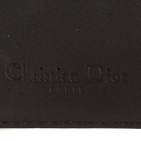 Dior(크리스챤디올) 은장 로고 장식 패브릭 자가드 새들 반지갑 [강남본점] 이미지3 - 고이비토 중고명품