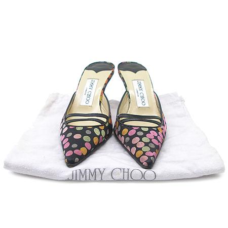 JIMMY CHOO(지미추) 멀티 컬러 버블 패브릭 여성용 샌들