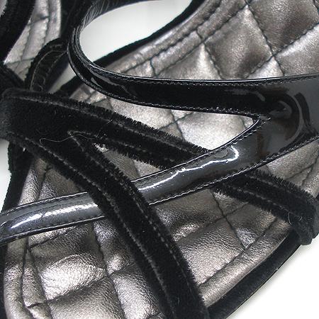 Chanel(샤넬) 메탈릭 엠보 블랙 멀티 래더 여성용 샌들