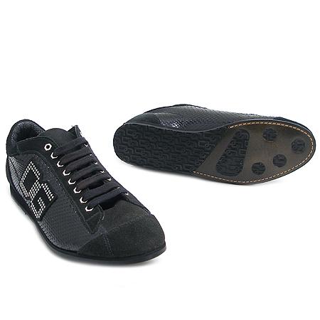 D&G(돌체&가바나) 로고 크리스탈 장식 블랙 스니커즈