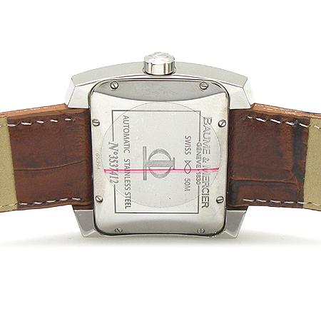 Baume&Mercier (보메&메르시에) 8254 스퀘어 베젤 오토매틱 래더 밴드 남성용 시계