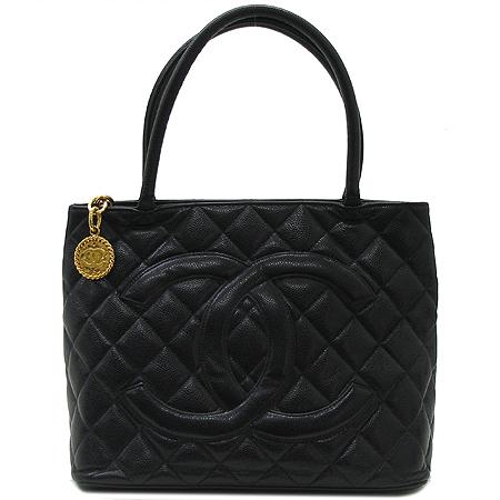 Chanel(샤넬) A01844Y01498 캐비어 스킨 금장 코인 토트백 [압구정매장]