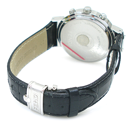 Fendi(펜디) F455110 쿼츠 크로노크라프 4500G Orologi 블랙가죽 밴드 남성용시계