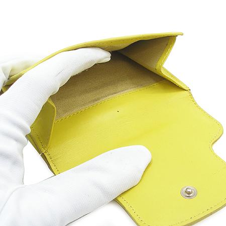 JIMMY CHOO(지미추) 은장 벨트 장식 옐로우 래더 반지갑