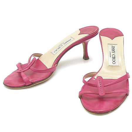 JIMMY CHOO(지미추) 핑크 레더 여성용 샌들
