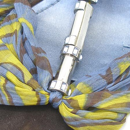 NINE WEST(나인웨스트) 멀티 컬러 스카프 레이스 은장 링크 장식 여성용 슈즈