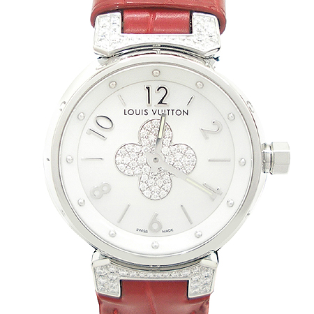 Louis Vuitton(루이비통) Q121P1 땅부르 포에버 다이아 세팅 자개판 엘리게이터 DD클립 여성용 시계 [동대문점]