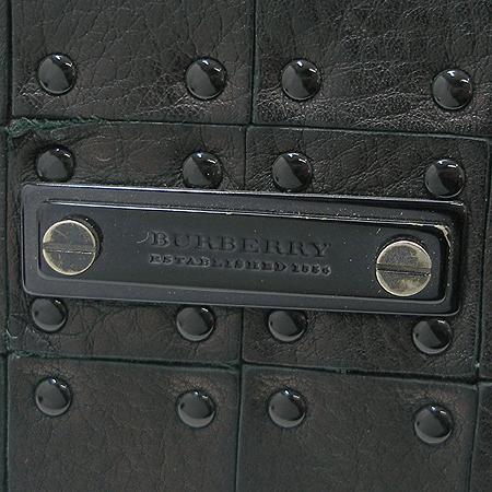 Burberry(버버리) 프로섬 플레이트 징 장식  블랙 래더 3단 반지갑