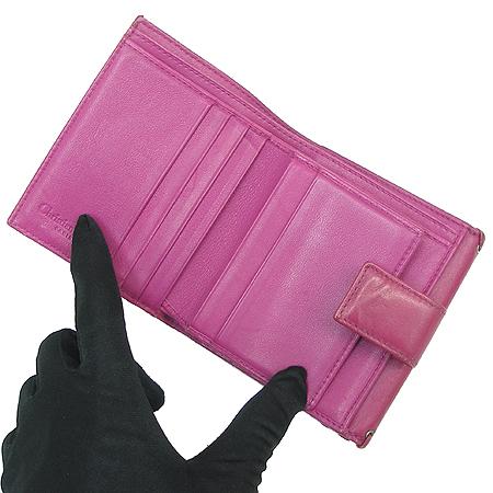Dior(크리스챤디올) 로고 자가드 패브릭 래더 콤비 반지갑