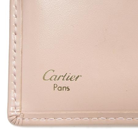 Cartier(까르띠에) 금장 로고 장식 핑크 래더 러브 반지갑 이미지4 - 고이비토 중고명품