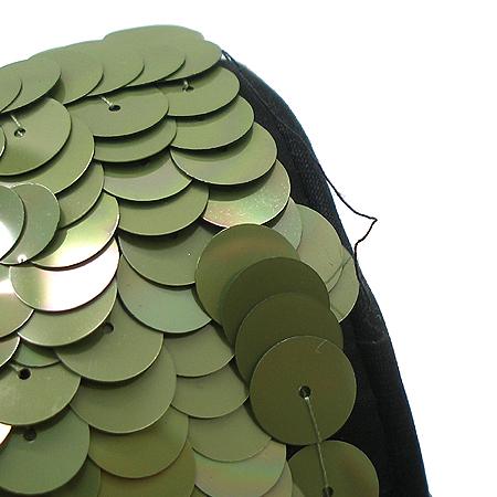 Chanel(샤넬) 시즌 한정판 클래식 라인 그린 스팽글 아이콘 체인 숄더백 [부산센텀본점] 이미지6 - 고이비토 중고명품