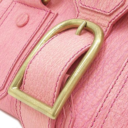 Celine(셀린느) 금장 로고 장식 핑크 레더 닥터 토트백