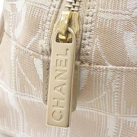 Chanel(샤넬) 뉴트레블 베이지 패브릭 토트백